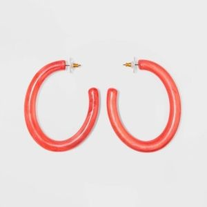 SUGARFIX by BaubleBar Chic Resin Hoop Earrings